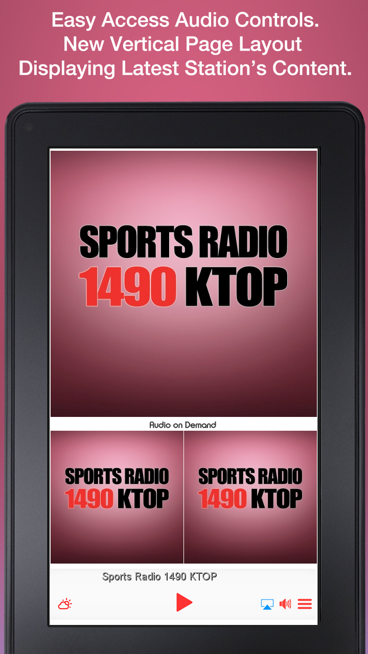 Amazon com: Sports Radio 1490 KTOP: Appstore for Android