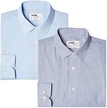 Marca Amazon - find. Camisa de Rayas Regular Fit Hombre