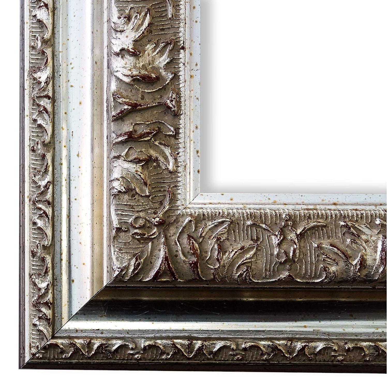 Online Galerie Bingold Bilderrahmen Silber 9x13-9 x 13 cm - Alle Größen - Echt-Holz - handgefertigt in Deutschland - WRF - Rom 6,5