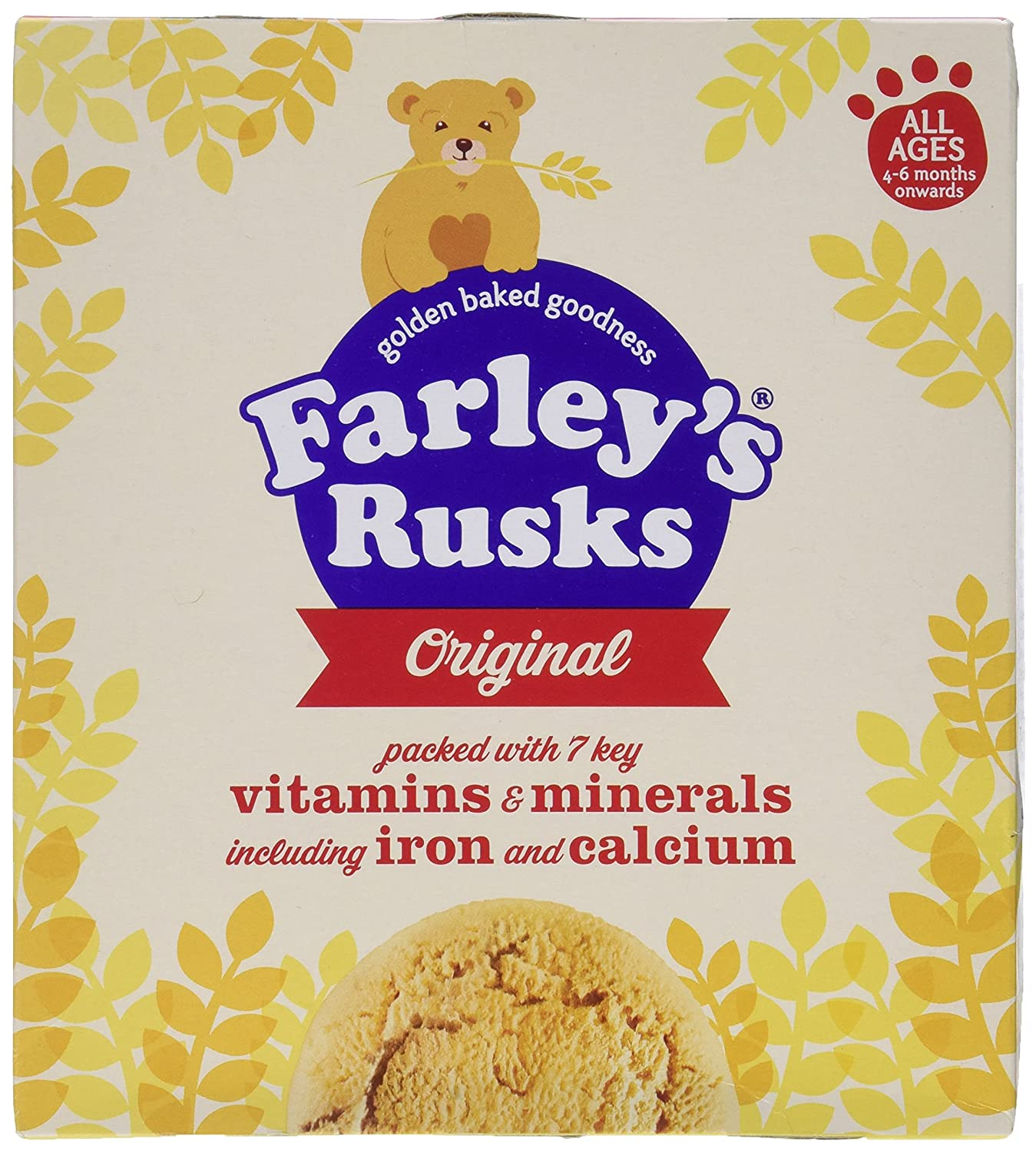 Heinz Farley's Rusks Original 4mth+ (18 per pack - 300g) Grocery