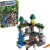 LEGO 21169 Minecraft Het Eerste Avontuur Nether Speelset met Steve, Alex en Skelet Poppetjes voor Kinderen vanaf 8 Jaar