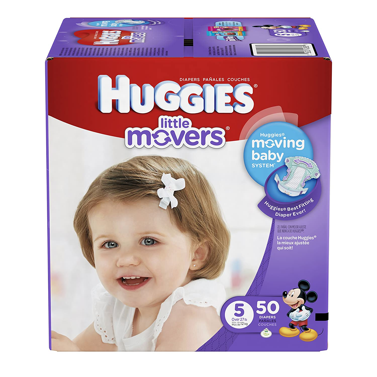 Amazon.com: Huggies Little Movers Diapers - Size 5-50 ct: Health & Personal  Care