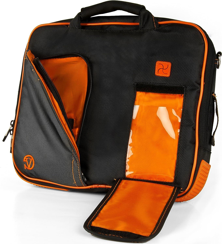 Citrus Orange Vangoddy Pindar Messenger Shoulder Bag Case for Apple MacBook Pro 15.4 inch Laptops