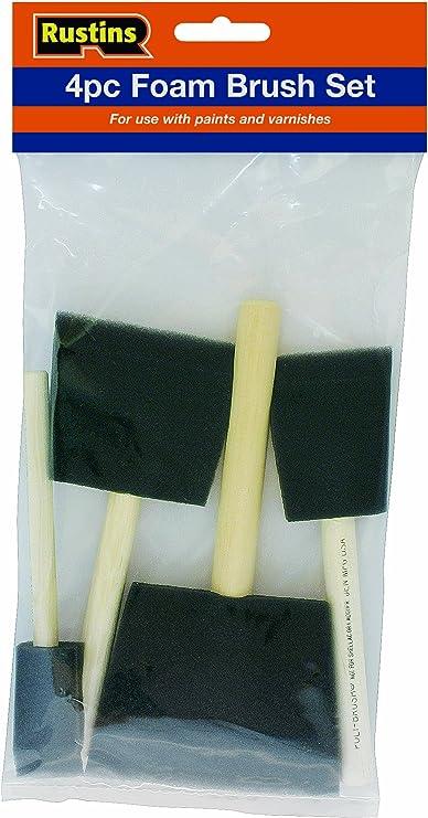 Rustins Foam Brush Set 1,2,3 /& 4 In
