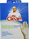MR. CLEAN LATEX Disposable Cleaning Gloves for ULTIMATE DEXTERITY (50 Count)
