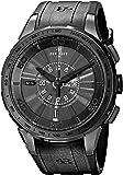Perrelet Men's A1079/1 Turbine Analog Display Swiss Automatic Black Watch