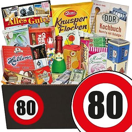 80 Jubiläum Süßigkeiten Geschenk Geschenke 80