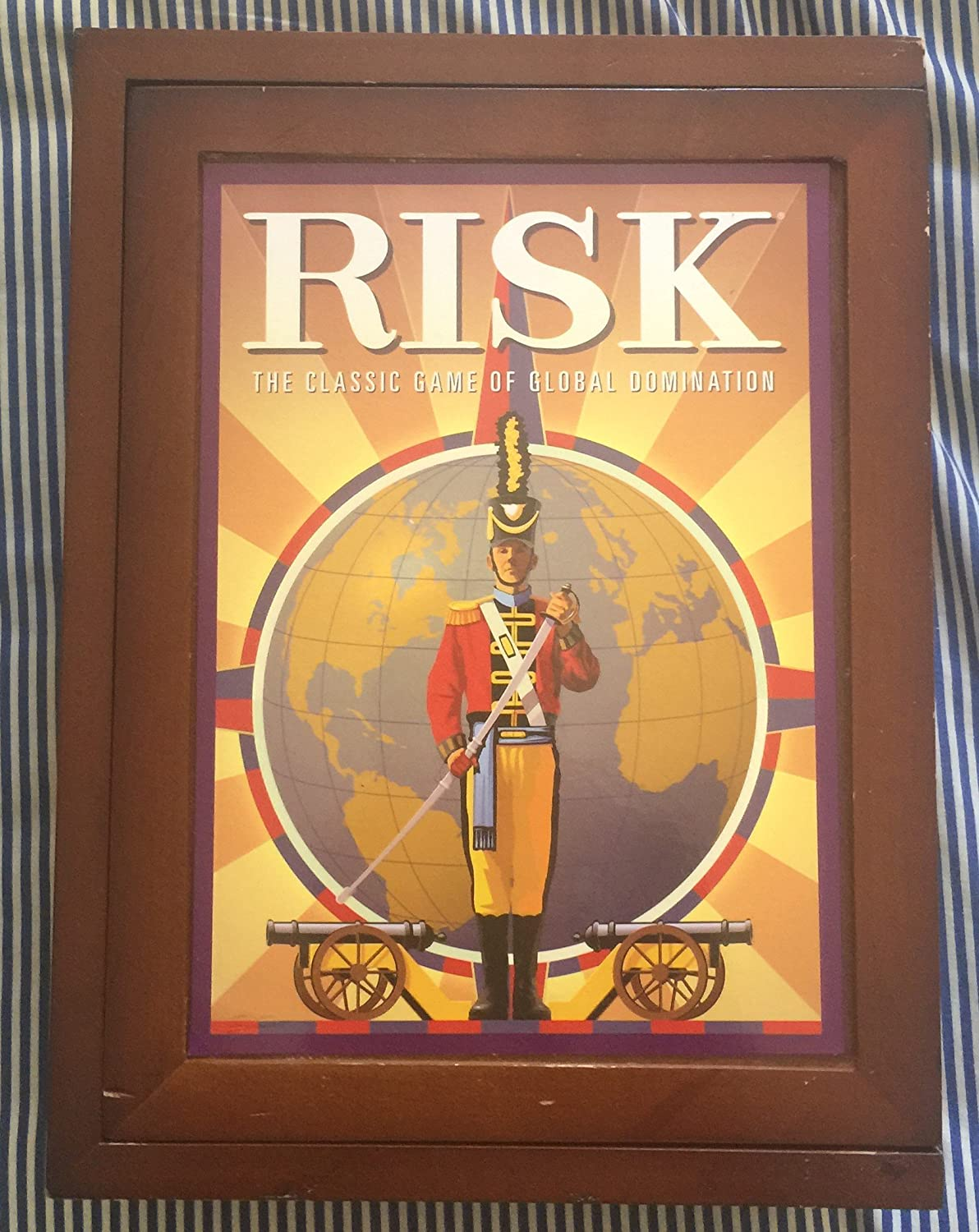 Hasbro Risk in Vintage Wood Book Edition