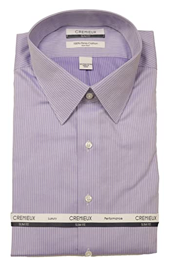 Cremieux Non Iron Slim Fit Point Collar Vertical Striped