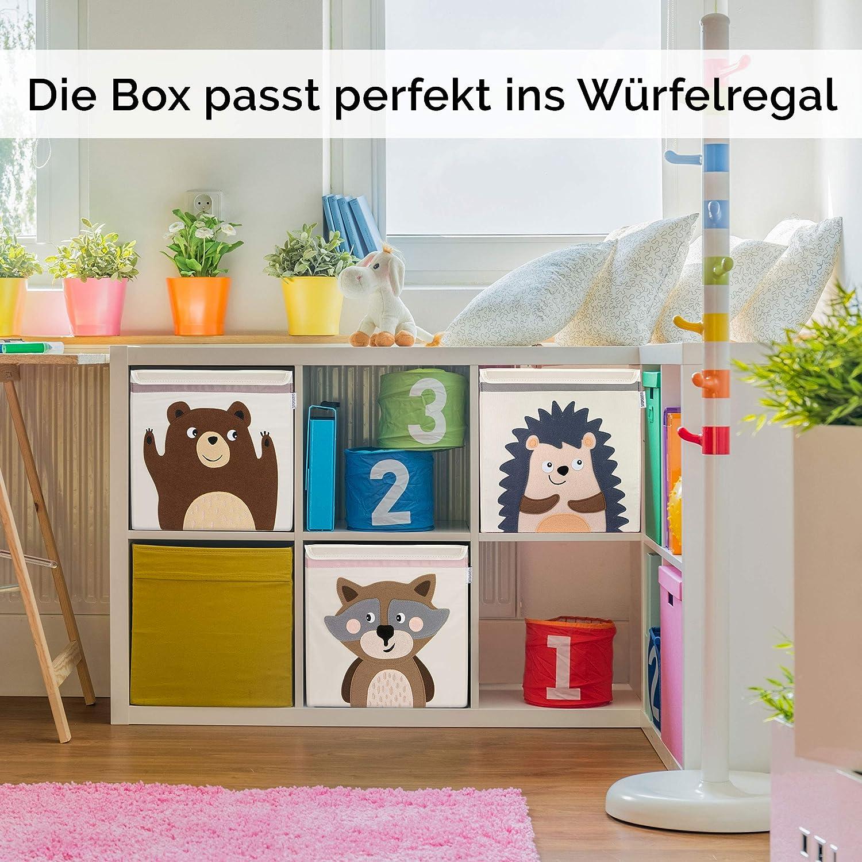 GLÜCKSWOLKE Caja Almacenaje Infantiles - 10 Motivos I Baules Juguetes I Cubos Organizador (33x33x33) Cuarto de Niños I Contenedor Habitacion Niñas I ...