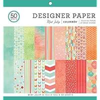 "ColorBok 73490A Designer Paper Pad Mint Julip, 12"" x 12"""