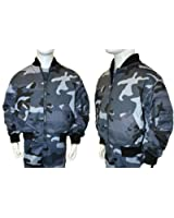 Kids camo MA1 midnight military army bomber jacket