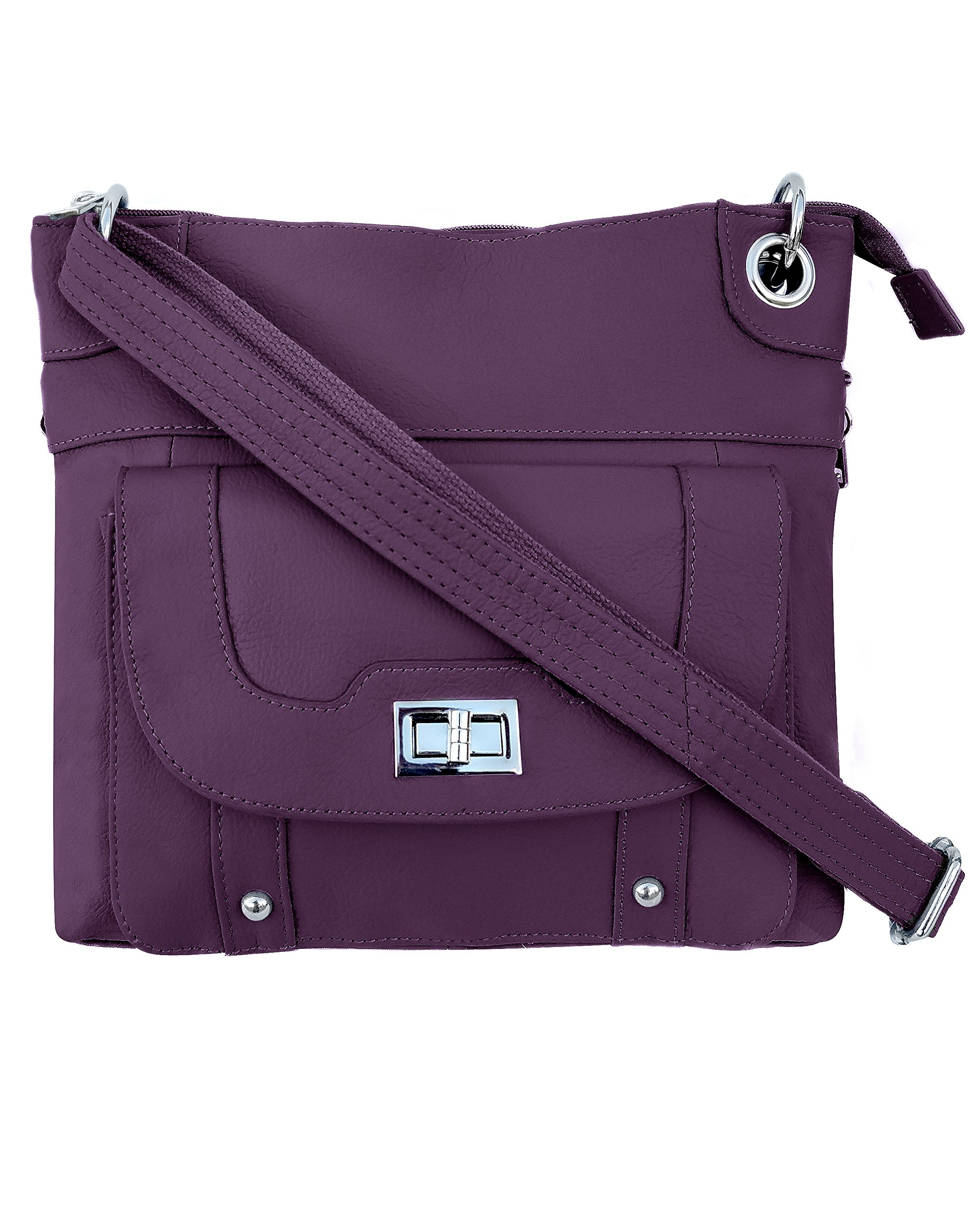 Ladies' Gun Concealment Crossbody Bag Purple