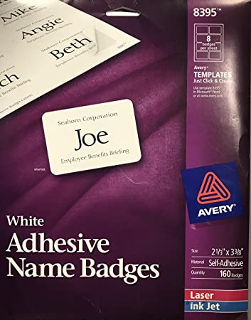 Amazon Avery 8395 Laserinkjet Name Badges 2 13x3 38 160