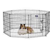 MidWest Homes for Pets Foldable Metal Exercise Pen / Pet Playpen, 8 Panels Each