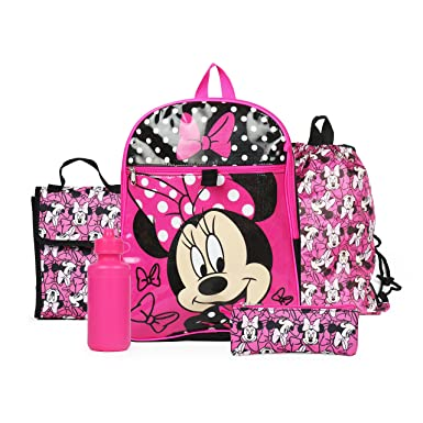 be3beee5eda Image Unavailable. Image not available for. Color  Ralme Disney Minnie  Mouse Pink Backpack ...