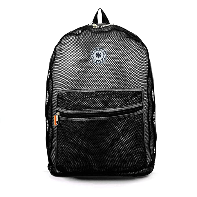 Mesh Backpack See through Student Bookbag Classic School Book Bag Net  Daypack Security Check Simple Backpacks 74d792ac55c68