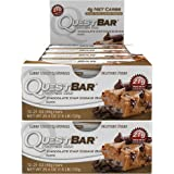 Quest Nutrition Protein Bar Chocolate Chip Cooke Dough. Low Carb Meal Replacement Bar w/ 20g+ Protein. High Fiber, Soy-Free, Gluten-Free (24 Count)