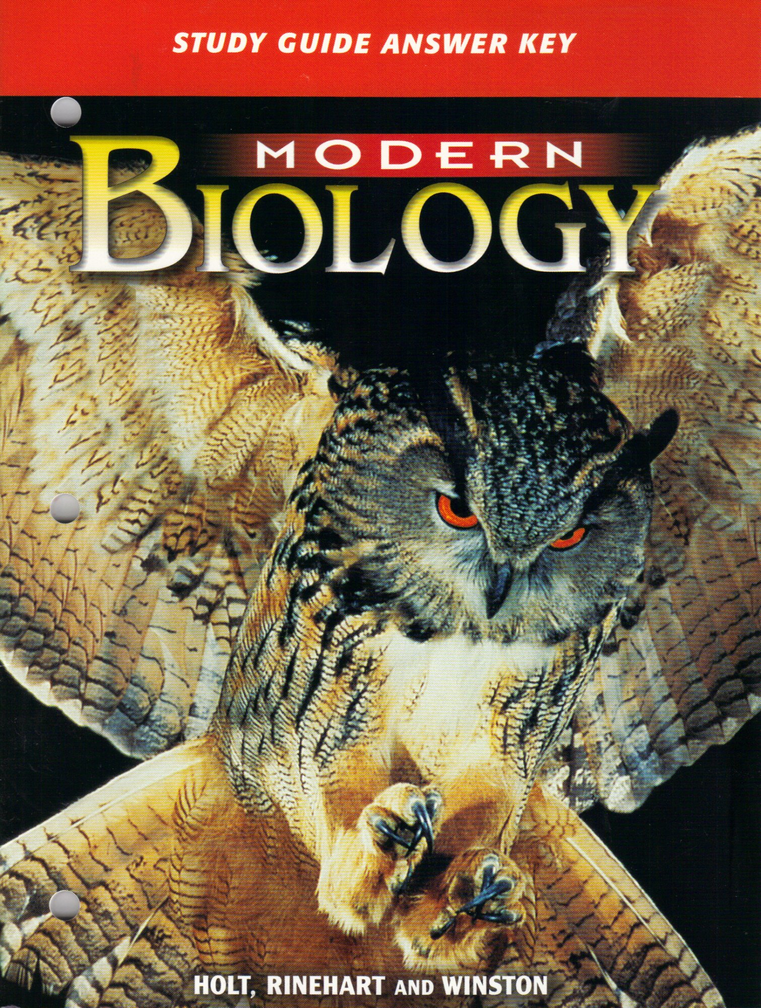 Modern Biology: Study Guide Answer Key: Winston Holt Rinehart:  9780030642746: Amazon.com: Books
