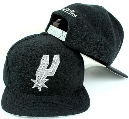 pretty nice 1012a a7b74 Mitchell   Ness NBA Micro Fleece Adjustable Snapback Cap (Adjustable, San  Antonio Spurs,