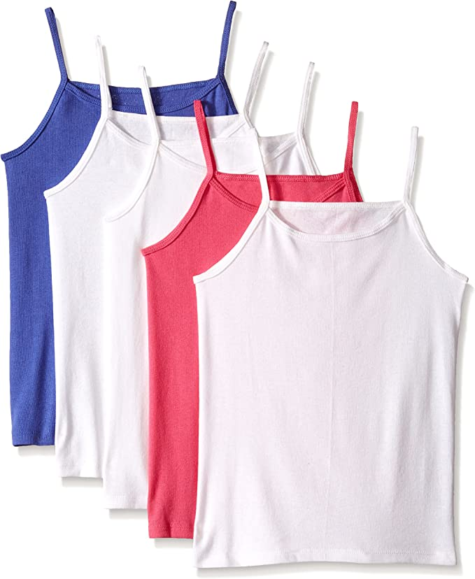 Fruit of the Loom Girls' 5pk Assorted Cami