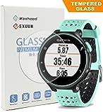 Garmin Forerunner 235 225 630 620 220 230 Screen Protector Glass, Exuun Real 0.3mm Premium 2.5D Watch Tempered Glass Screen Protector Glass Film for Garmin Forerunner 235 225 630 620 220 230