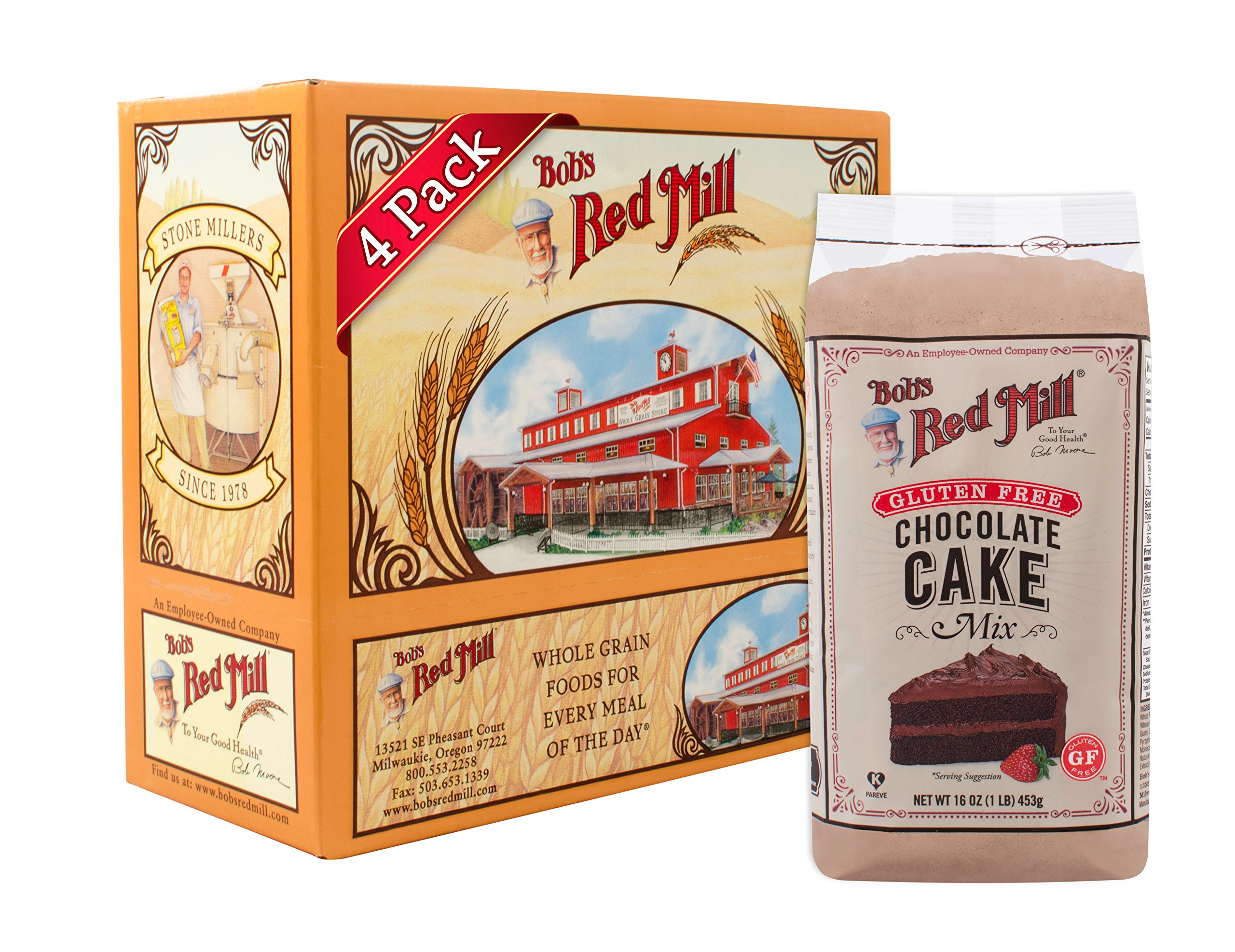 Bob's Red Mill Gluten Free Chocolate Cake Mix, 16-ounce (Pack of 4) by Bob's Red Mill