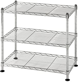 Muscle Rack WS181018 C Steel Adjustable Wire Shelving, 3 Shelves, Chrome, 18