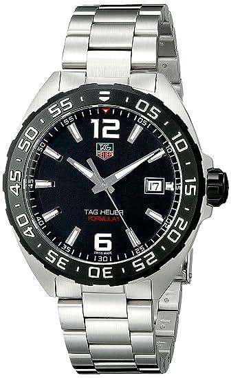 Tag Heuer waz1110.ba0875 - Reloj de pulsera, correa de acero inoxidable, color plateado: TAG Heuer: Amazon.es: Relojes