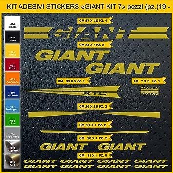 Kit Pegatinas Stickers Bicicleta Giant XTC -Kit 7-19 Piezas- Bike Cycle Cod. 0863 (091 Oro): Amazon.es: Deportes y aire libre