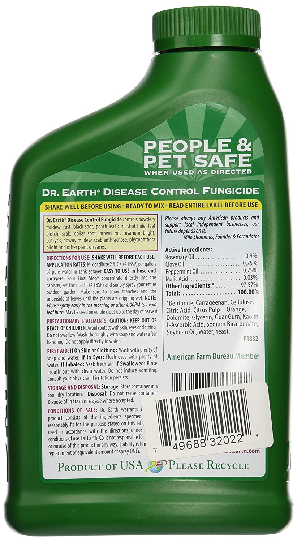 Amazon.com : DR EARTH 1023 Disease Fungicide, 24-Ounce : Patio ...