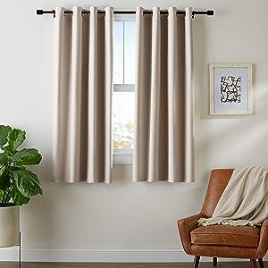 Amazon Basics Room Darkening Blackout Window Curtains with Grommets - 52