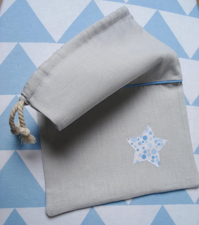 Sac de rangement ou sac à lingerie, pour pyjama - En lin et étoile