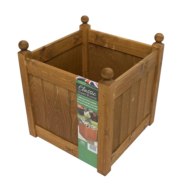 AFK Classic Wooden Planter 460 Beech Stain: Amazon.co.uk: Garden ...