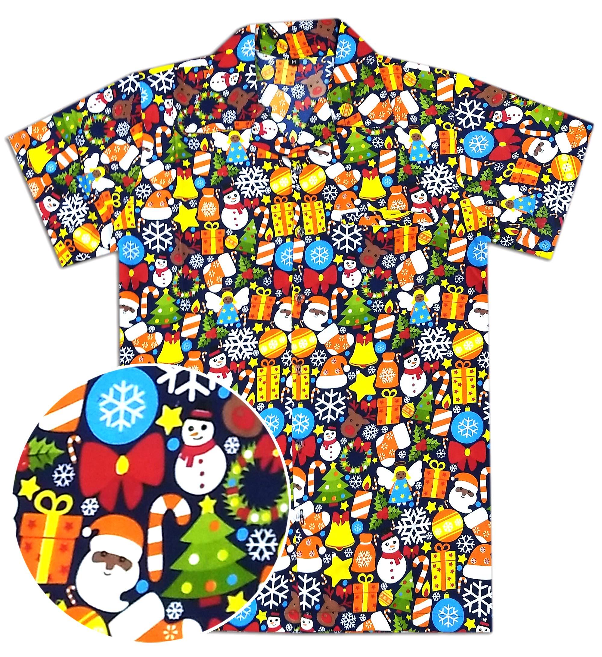 Christmas Hawaiian Shirt Womens.Virgin Crafts Women S Christmas Shirts Holiday Santa Claus
