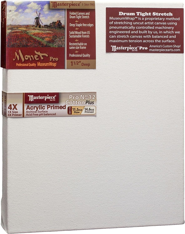 4X Sierra Heavy Weight Cotton 14.6oz Masterpiece Artist Canvas ME-6381 Monet Pro 1-1//2 Deep 63 x 81
