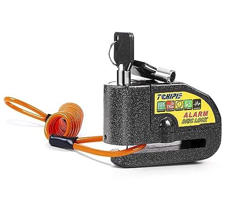 Tchipie Disc Brake Lock - Alarm Disc Lock 110dB Siren Anti Theft Waterproof Motorcycle Wheel Lock