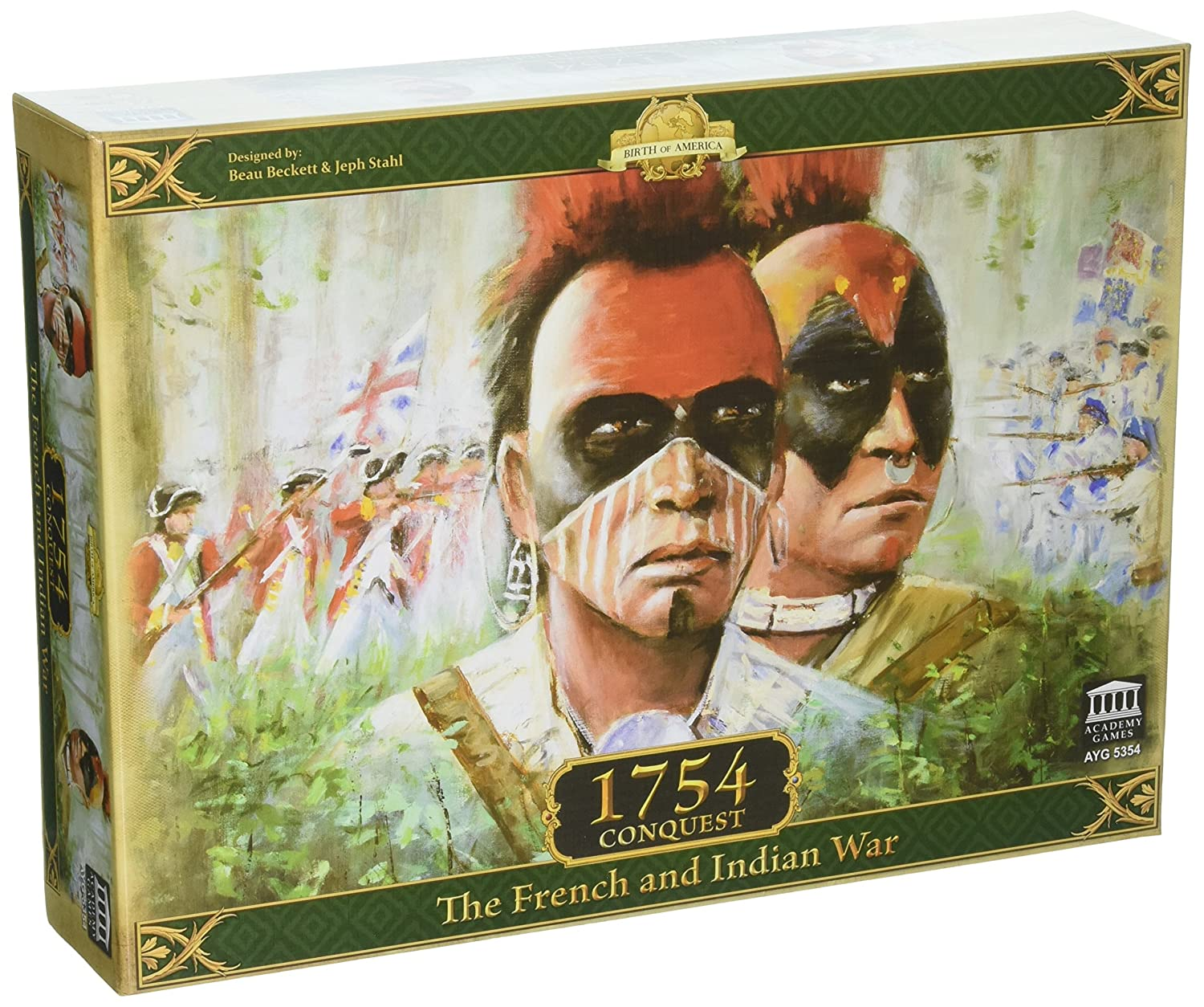 Amazon.com: 1754 Conquest The French & Indian War Board Game: Toys & Games