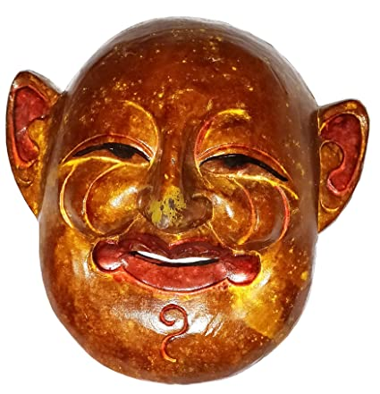 Buy Bhunes Nepali Wooden Mask Wooden Home Decor Woodem Mask