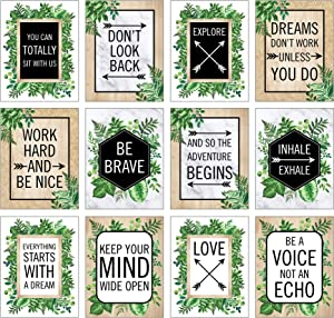 Schoolgirl Style Simply Boho Poster Set—12 Posters, Inspirational Wall Art or Bulletin Board Decor, Classroom, Office, Homeschool Decorations (13.37
