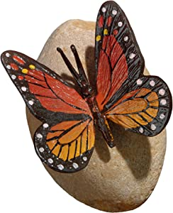 Design Toscano MP7486 Viceroy Monarch Butterfly on Rock Statue, Full Color
