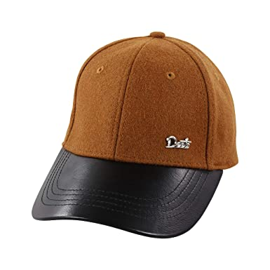 Deets Fashion Leather   Cashmere Baseball Cap Unisex for Men and Women  Comfortable Luxury Hat 8282ba0f9f9