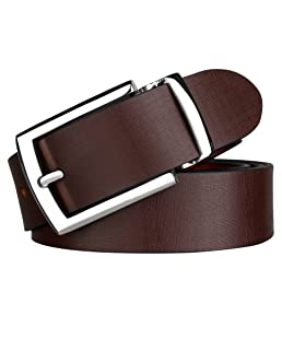 Urban Alfami 100% Genuine Leather Brown Casual and Formal Belts For Men and Boys (2 Year Money Back Guarantee)-belts for men leather original-belt for men formal leather-gifts for men BRJS-0432