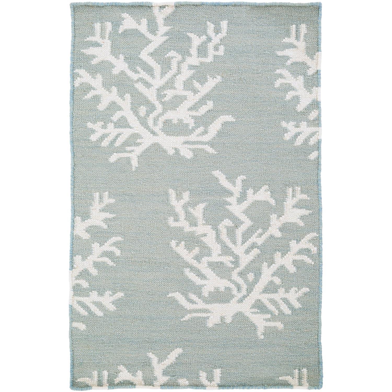Somerset Bay by Surya Boardwalk BDW-4008 Coastal Flatweave Hand Woven 100/% Wool Lettuce Leaf 2 x 3 Accent Rug