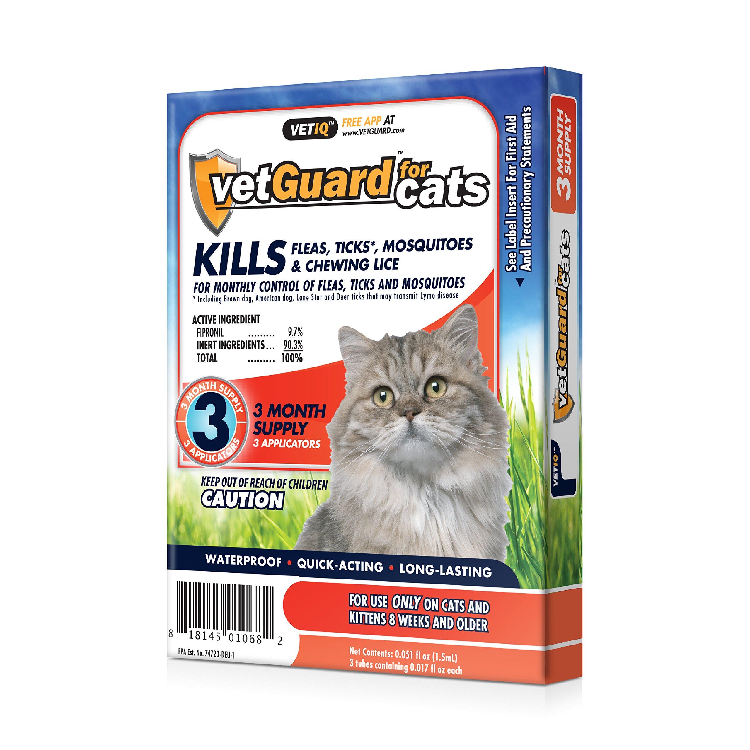 VetGuard Plus Flea & Tick Treatment Cats,, 3 Month Supply