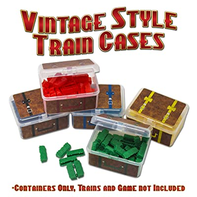 "Storage Cases for Ticket to Ride Board Game, Compatible with Original and Europe Version, Expansion, Vintage Style ""Suitcase"": Toys & Games"