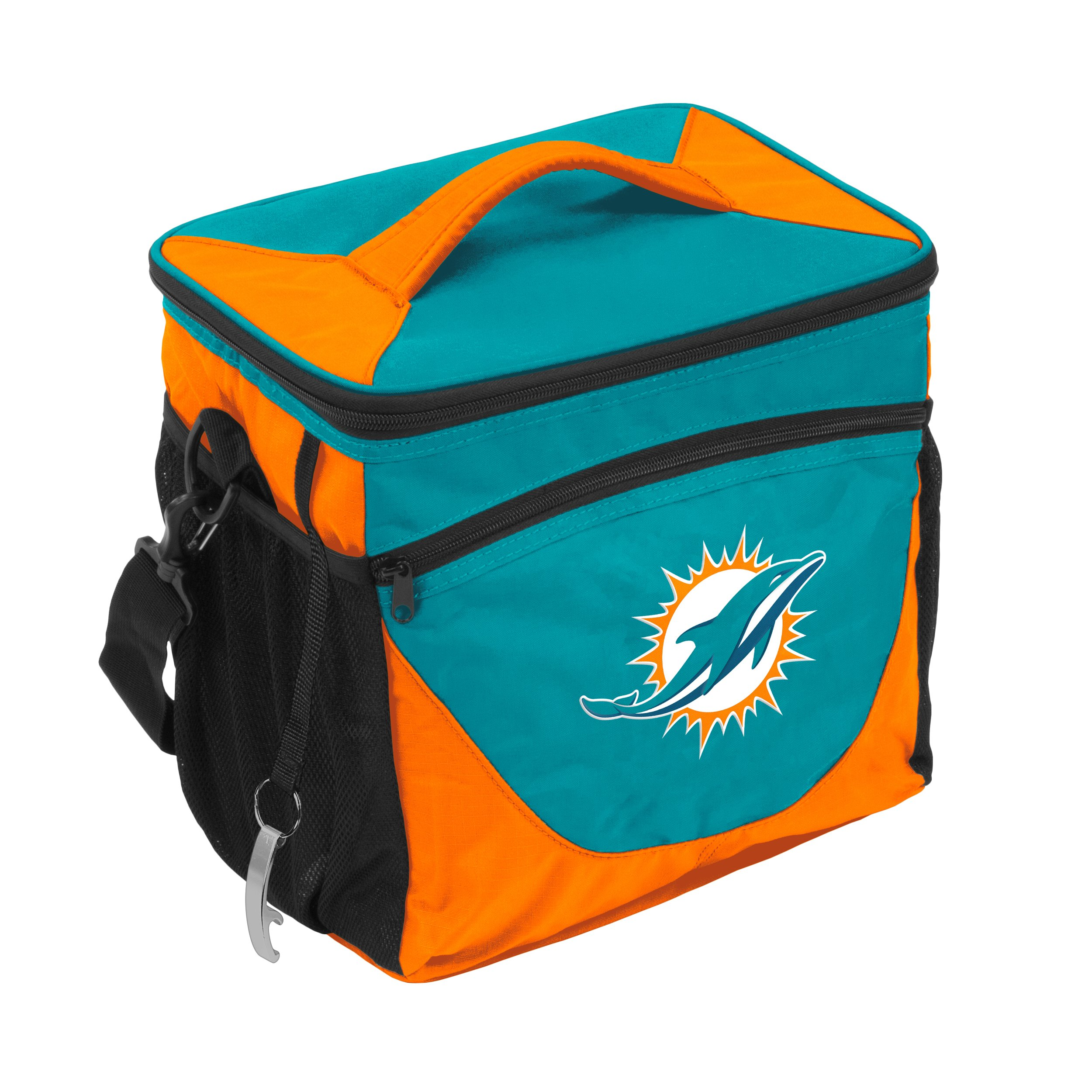 Logo Brands NFL Miami Dolphins 24 Can Cooler, One