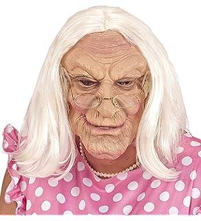 Net Toys Oma Maske Omamaske Weiss Hautfarben Alte Frau Maske