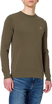 GANT COTTON PIQUE C-NECK heren pullover