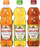 Melfor - Vinaigre/Condiment - Coffret 3x50cl - Original - Sud - Epices + Livret de recette